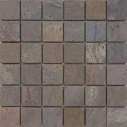 Capstona Stone Mosaics Rustic Copper Plate Tiles