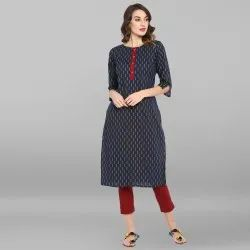 Blue Pure Cotton Kurta(JNE3439)