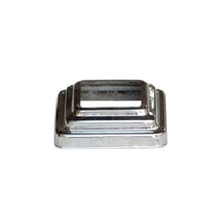 Stainless Steel Square Pipe Base, Size: 1/2