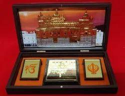 黄铜Charan Paduka礼品套装