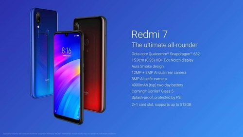 1520*720 Hd+ Android Pie Redmi 7, Screen Size: 6 26