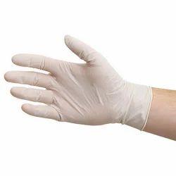 Plastic White Examination Gloves