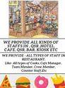 Cafe Staffing Services & Staff Supplier