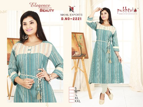 Ladies Handloom Kurti (Cotton)