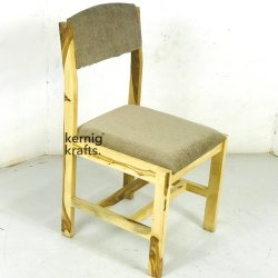 Light Brown Kernig Krafts Hand Made Cushion Indian Wooden Chair Rose