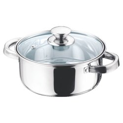 16cm And 18cm Casserole With Glass Lid