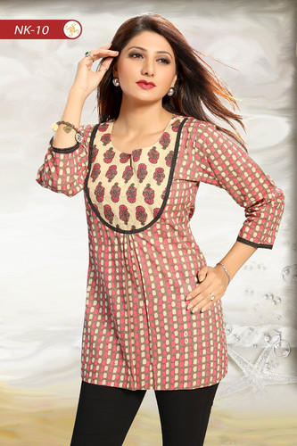5fed5bb55af Cotton Designer Short Tunic Top for Women at Rs 695 /piece | Malad ...