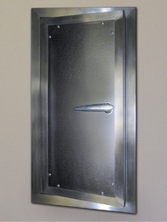 Polished Galvanized Steel Door, For Commercial, Single