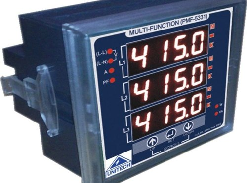 Unitech Three Phase Multifunction Meter (5331) With Pulse O/P For Industrial