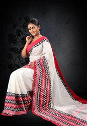 Pure Cotton Border Ladies Begumpuri Saree, With blouse piece, 5.2 m (separate blouse piece)