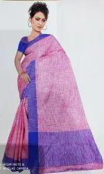 COTTON SILK PLAIN Designer sarees, With Blouse, 6.3 m