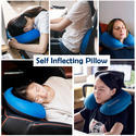 Inflatable U-Shaped Travel Neck Pillows