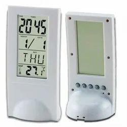 Grey See Thru Table Clock, Packaging Type: Box