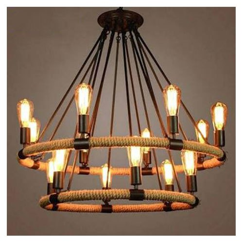 Iron ROSHAN Round Hanging Chandelier, Model Number: Rl-3, For Home And Event Uses