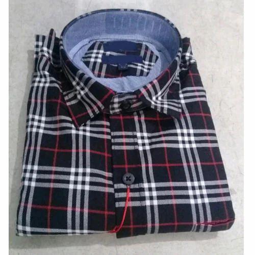 176903ee4 Mens Collar Neck Check Shirt, Size: M-XL, Rs 245 /piece, M/s Dupar ...