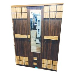 Brown Modular PLB Mirror Wardrobe