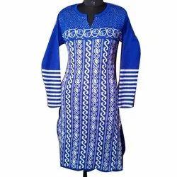 Casual Wear Full Sleeve Woolen Kurti, Size: XL