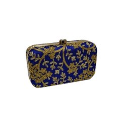 Blue Party Hanging Hand Clutch