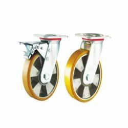 Aluminum Polyurethane (Al/PU Yellow) Caster Wheels