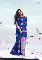 Raj Tex Kanthrishi Series 74001-74010 Stylish Party Wear Saree