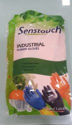 Senstouch Orange Rubber Hand Gloves