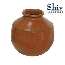 Brown Round Clay Water Pot