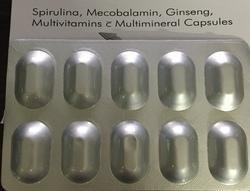 Spirulina,Mecobalamin, Ginseng, Multivitamins Multiminerals Capsules in Food