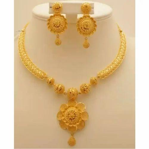 Party Wear Gold Necklace Set