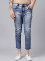 Plain And Faded Slim Fit Men Ankle Length Jeans, Yes