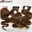 Human Indian Hair Natural Color Wavy