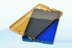 Plastic Sterilization Cassette Box Tray Silicone Mat