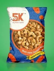 5K Salty,Pepper Roasted Salted Pepper Cashews, Packaging Size: 250 g,Also available in 500 g, Packaging Type: Packet