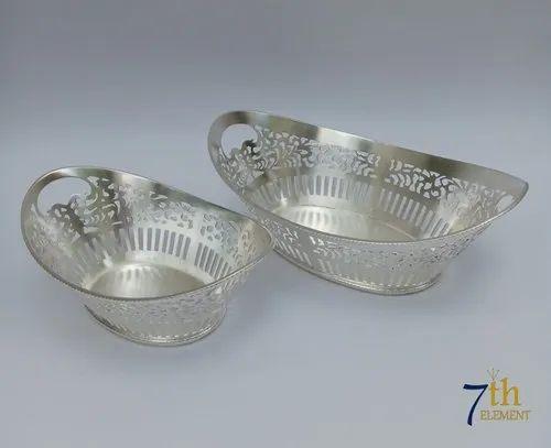 Silver Plated Bread/ Fruit Basket