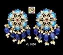 Cl Jewellery Meenakari Kundan Painting Qaurtz Beads Earrings Party Collection