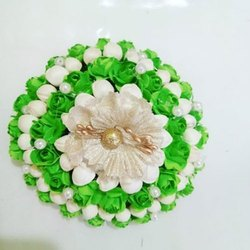 Green Flower Hair Bun