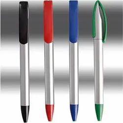 Large Clip Silver Pen