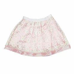 Flower Mesh Embroidered Skirt