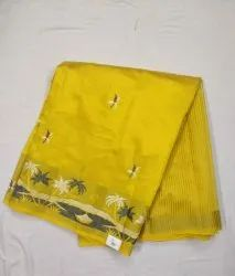 Party Wear Embroidered Chanderi Silk Saree with Blouse