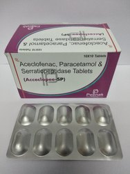 Aceclofenac 100mg Paracetamol 325mg Serratiopeptidase 15mg