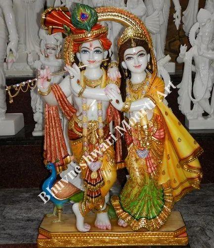 Marble Radha Krishna With Beautiful Faces