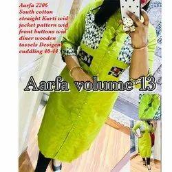 Aarfa 2206 South Cotton Straight Kurti