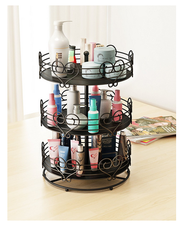 home sparkle rotating mild steel makeup organizer 23 cm x at rs