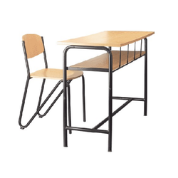 Single Double Durable College Desk Furniture School Bench