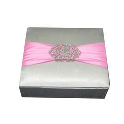 Grey And Pink Wedding Card Box Box