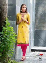 Cotton Unstitched Casual Wear Ladies Suit