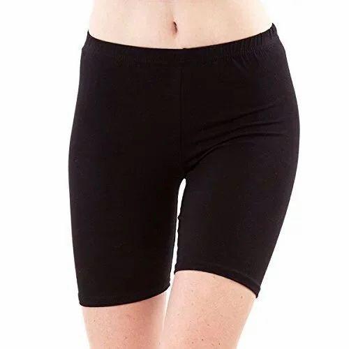 4187f273b4 Foxrobe Black Ladies Cotton Lycra Shorts, Rs 100 /piece, Fine ...