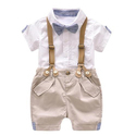 Boys Cotton Baba Tuxedo Romper Suits Bow Tie