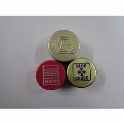 Round Aluminum Top Embossed Caps