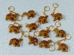 Wooden Camel Key Chain
