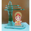 Image 12inch Glass Temple For Office